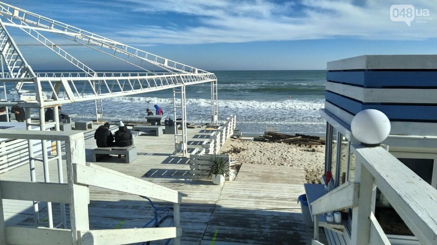 Последствия шторма на одесском побережье: как выглядят пляжи после стихии, - ФОТОРЕПОРТАЖ, фото-9