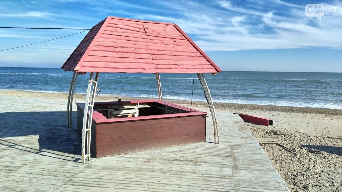Последствия шторма на одесском побережье: как выглядят пляжи после стихии, - ФОТОРЕПОРТАЖ, фото-10