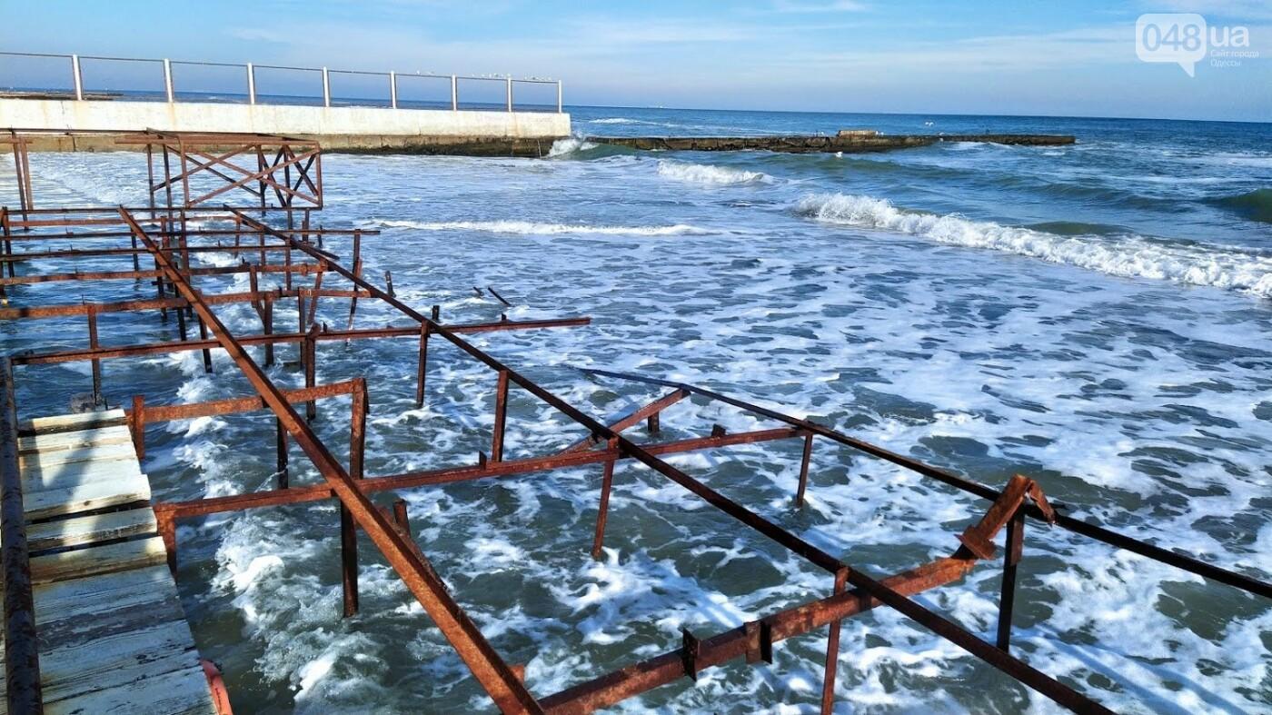 Последствия шторма на одесском побережье: как выглядят пляжи после стихии, - ФОТОРЕПОРТАЖ, фото-19