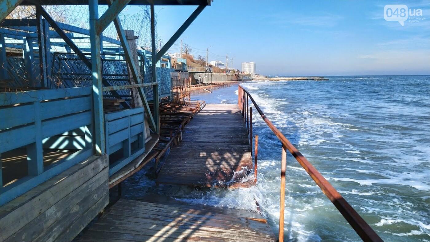Последствия шторма на одесском побережье: как выглядят пляжи после стихии, - ФОТОРЕПОРТАЖ, фото-21