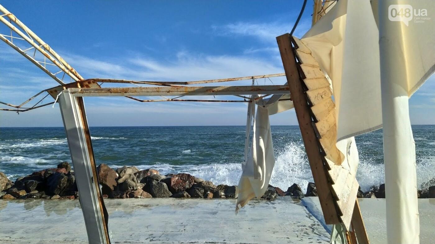 Последствия шторма на одесском побережье: как выглядят пляжи после стихии, - ФОТОРЕПОРТАЖ, фото-23