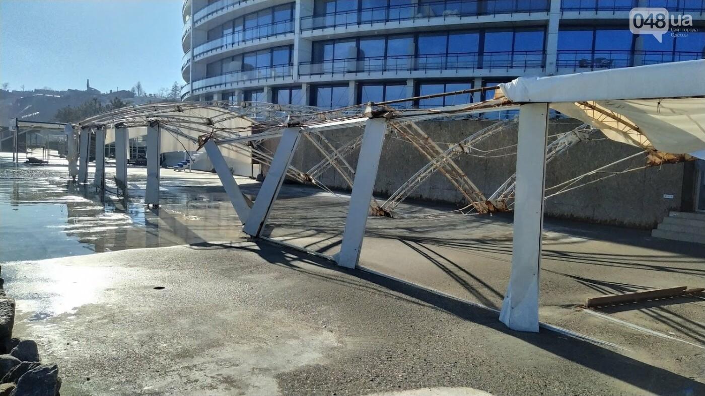 Последствия шторма на одесском побережье: как выглядят пляжи после стихии, - ФОТОРЕПОРТАЖ, фото-28
