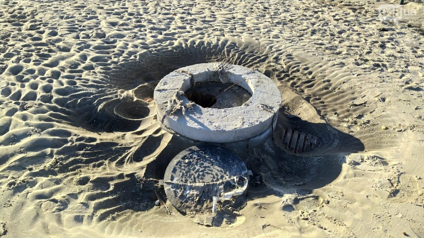 Последствия шторма на одесском побережье: как выглядят пляжи после стихии, - ФОТОРЕПОРТАЖ, фото-38