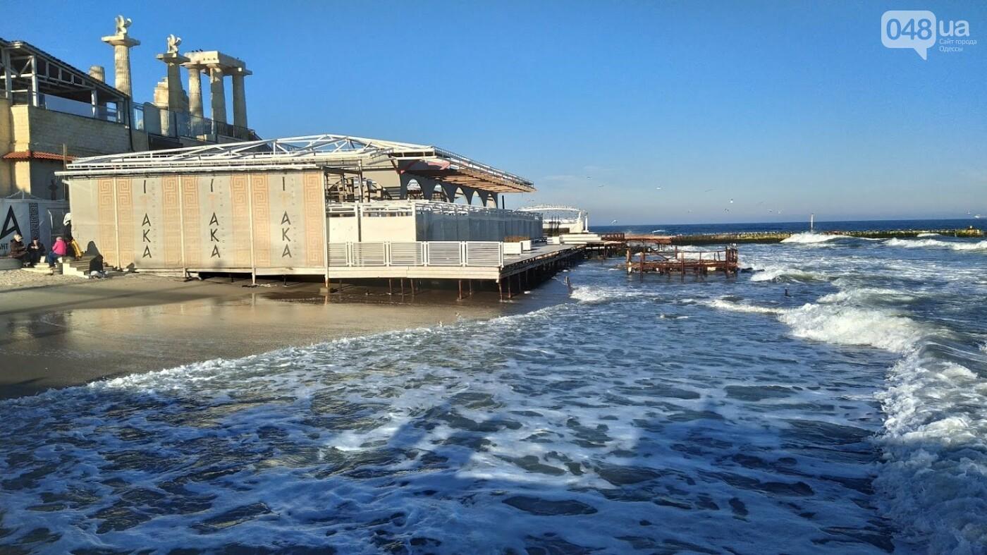 Последствия шторма на одесском побережье: как выглядят пляжи после стихии, - ФОТОРЕПОРТАЖ, фото-39