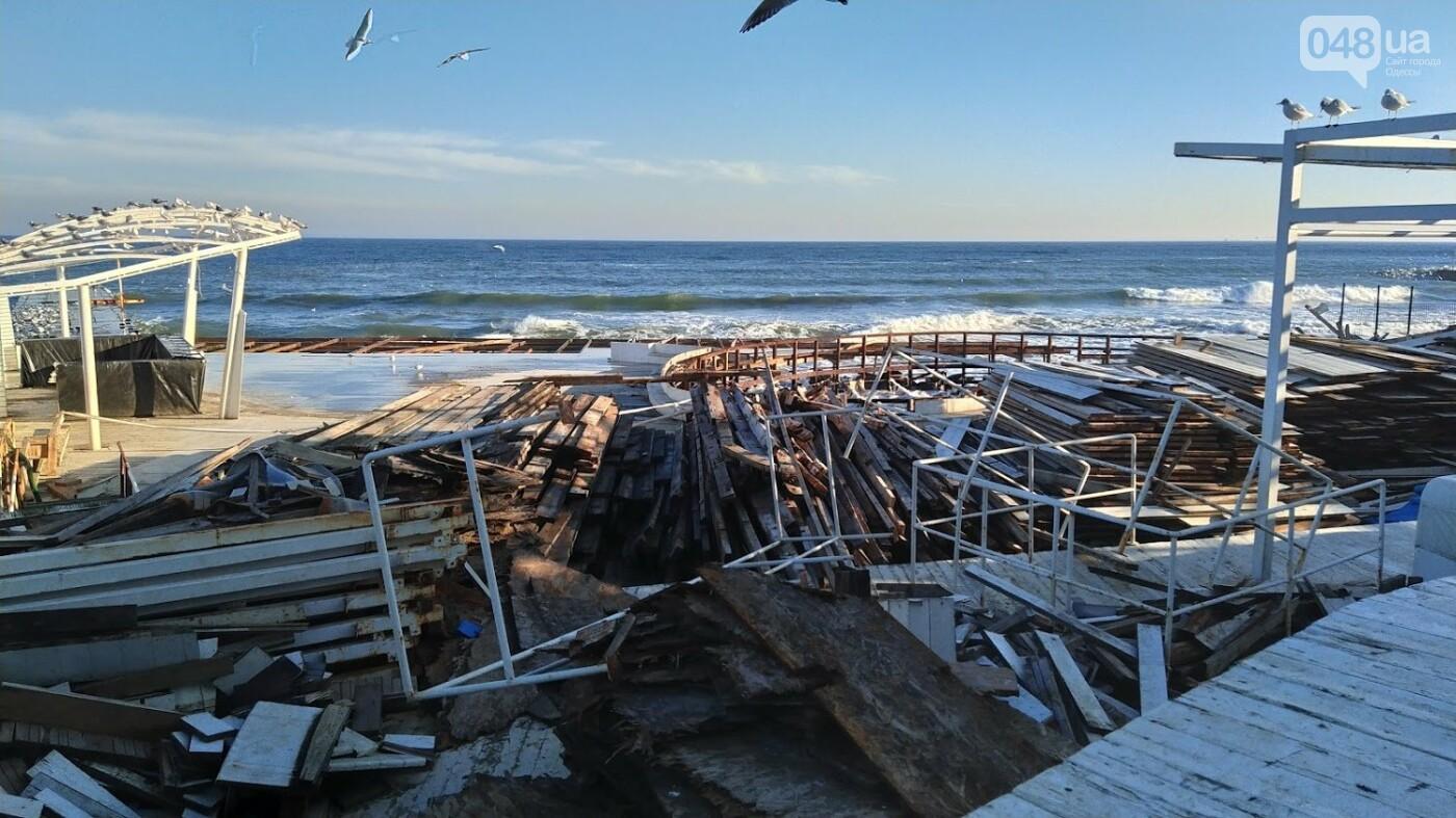 Последствия шторма на одесском побережье: как выглядят пляжи после стихии, - ФОТОРЕПОРТАЖ, фото-40