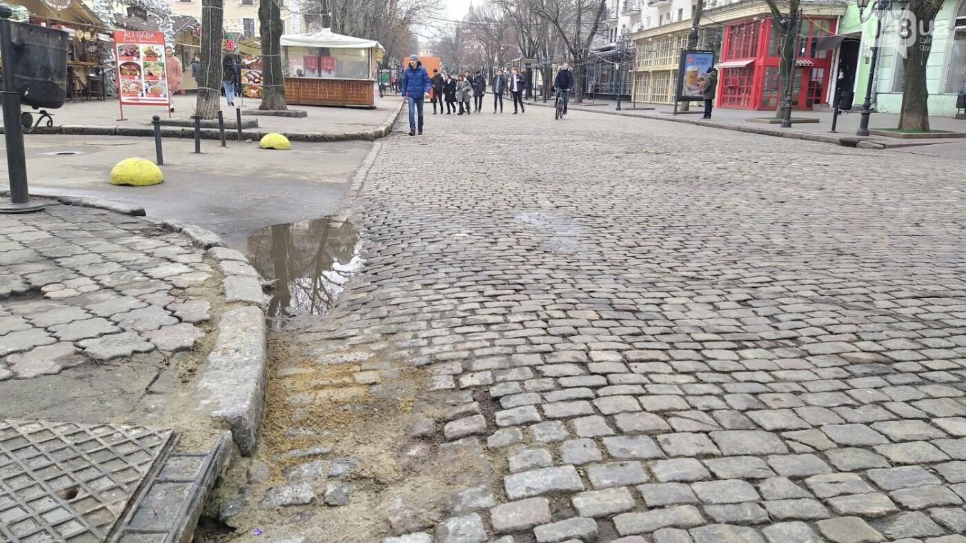 На Дерибасовской в Одессе образовались ямы, - ФОТО, фото-7, ФОТО: Александр Жирносенко.