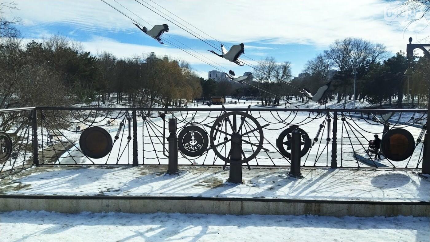 На замерзшем пруду в Одесском парке устроили спортивные состязания, - ФОТО, фото-12, ФОТО: Александр Жирносенко.