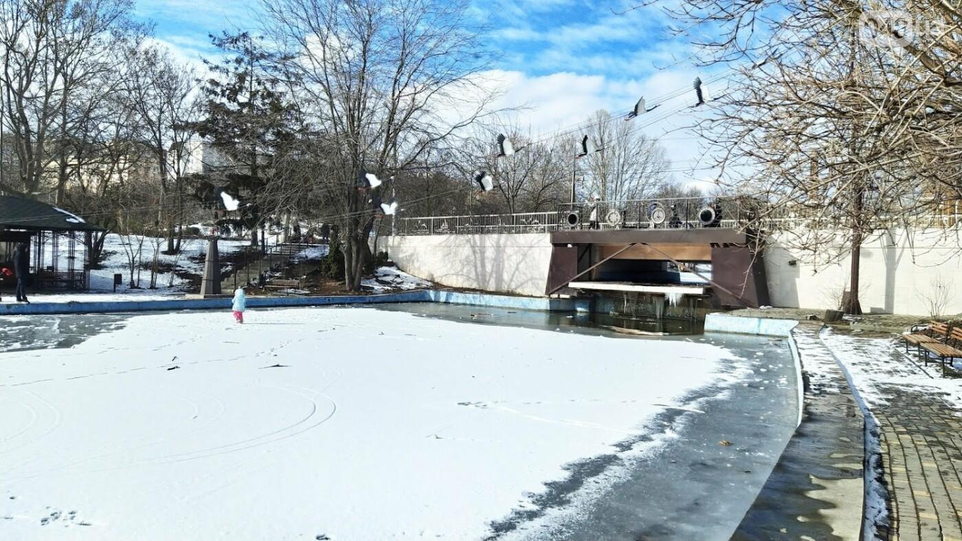 На замерзшем пруду в Одесском парке устроили спортивные состязания, - ФОТО, фото-11, ФОТО: Александр Жирносенко.