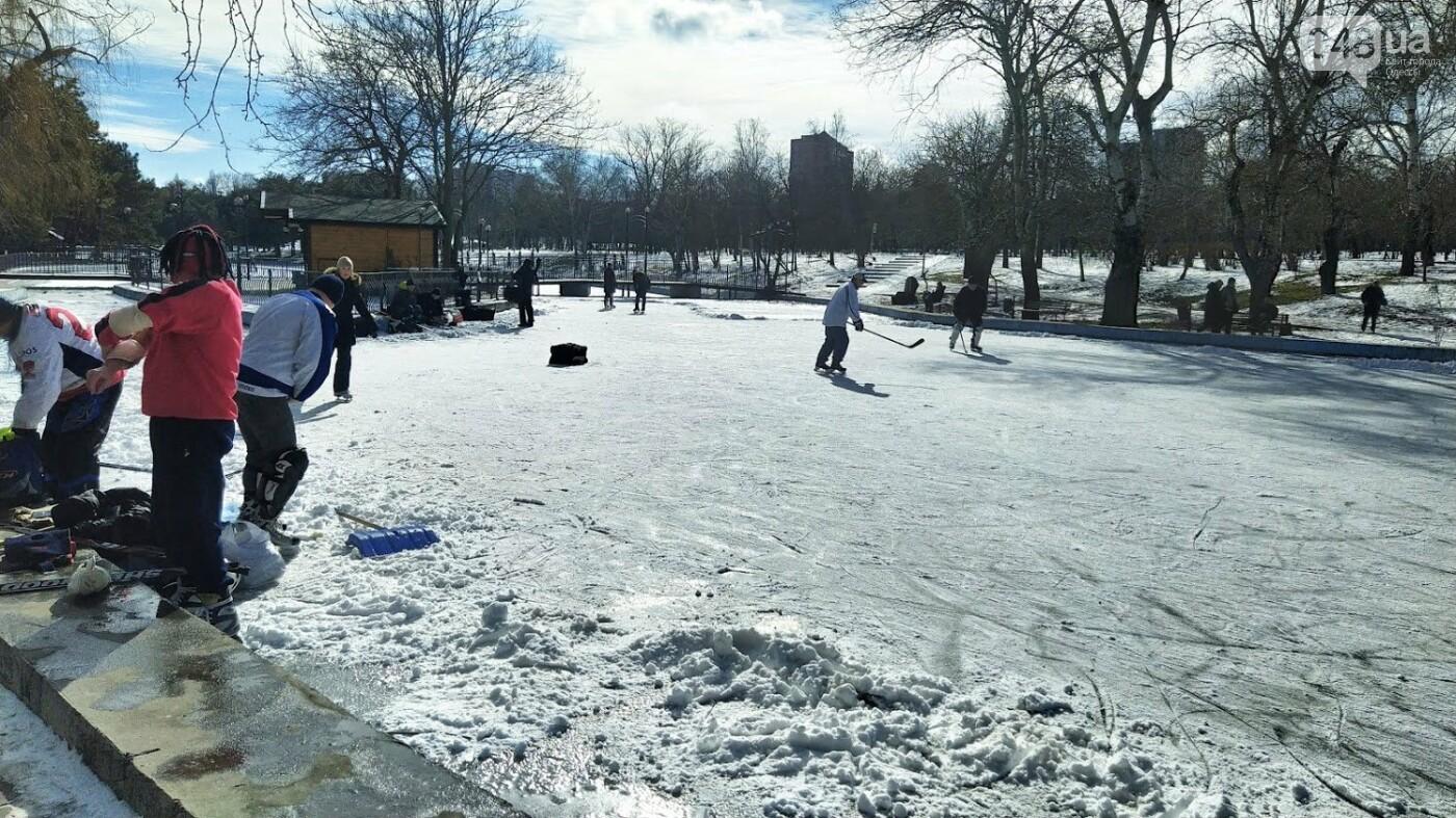 На замерзшем пруду в Одесском парке устроили спортивные состязания, - ФОТО, фото-2, ФОТО: Александр Жирносенко.