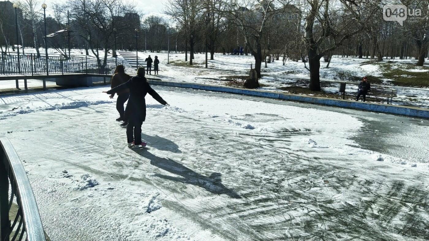 На замерзшем пруду в Одесском парке устроили спортивные состязания, - ФОТО, фото-5, ФОТО: Александр Жирносенко.