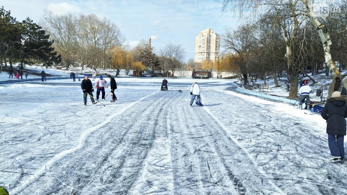На замерзшем пруду в Одесском парке устроили спортивные состязания, - ФОТО, фото-6, ФОТО: Александр Жирносенко.