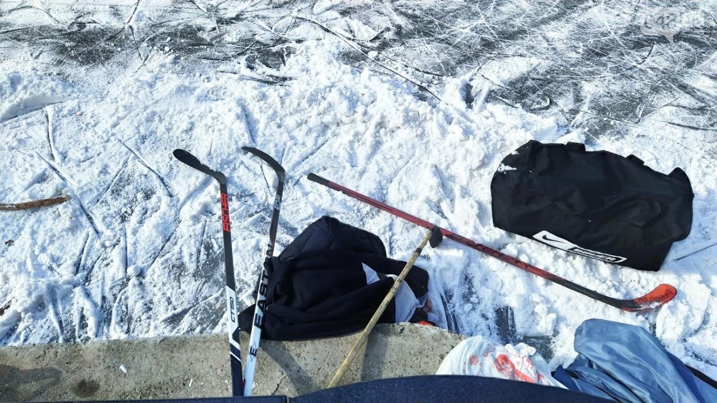 На замерзшем пруду в Одесском парке устроили спортивные состязания, - ФОТО, фото-7, ФОТО: Александр Жирносенко.
