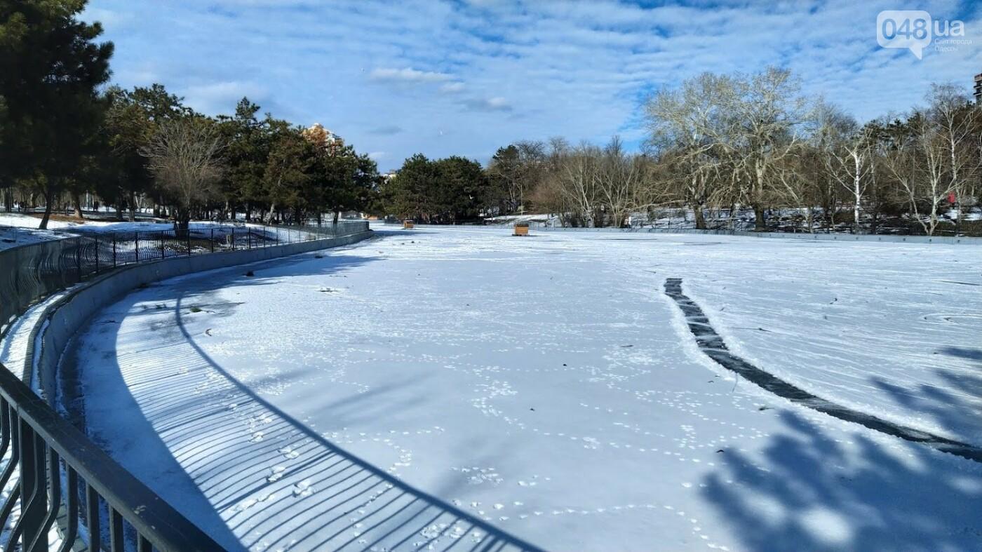 На замерзшем пруду в Одесском парке устроили спортивные состязания, - ФОТО, фото-23, ФОТО: Александр Жирносенко.