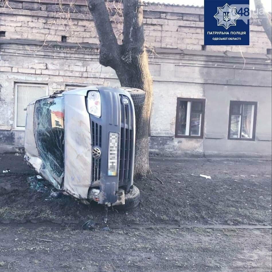 В Одессе произошло ДТП с переворотом автомобиля, - ФОТО, фото-1