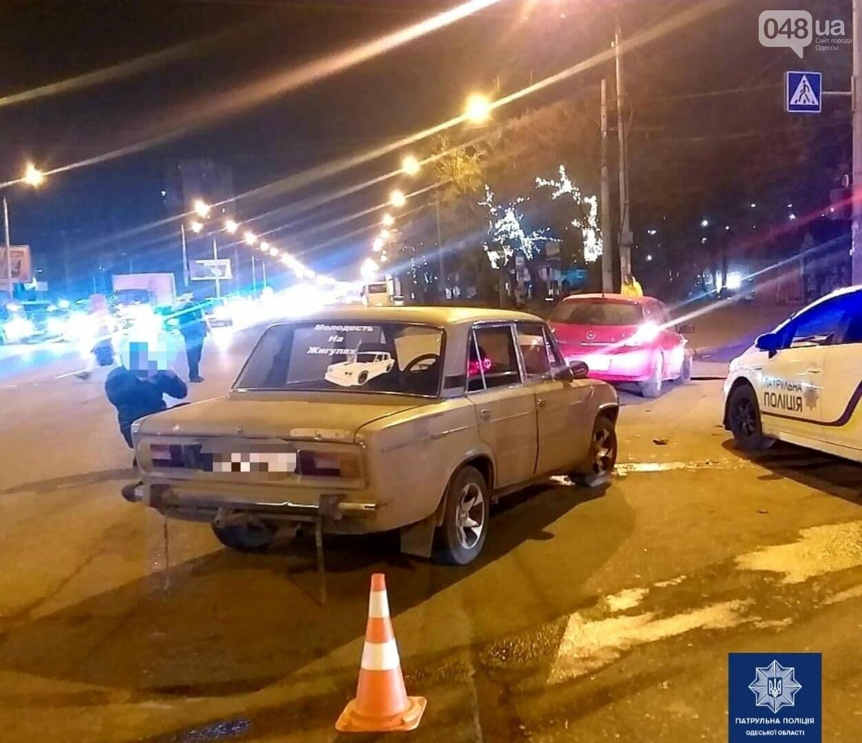 ДТП с пострадавшим: в Одессе Opel и ВАЗ не поделили дорогу, фото-1