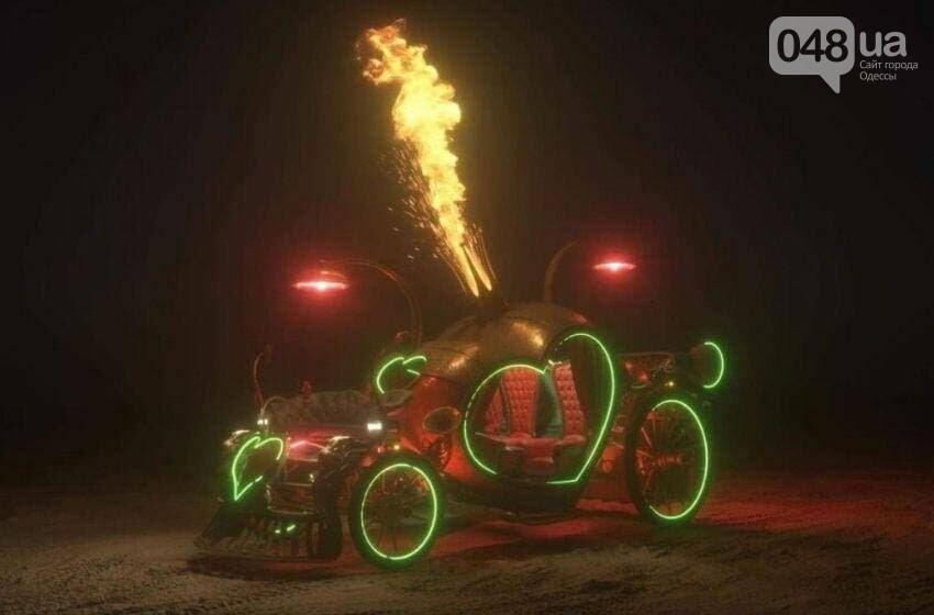 Одесский скульптор Александр Милов создал электромобиль-огнемёт для свадеб в Америке,- ФОТО, фото-2