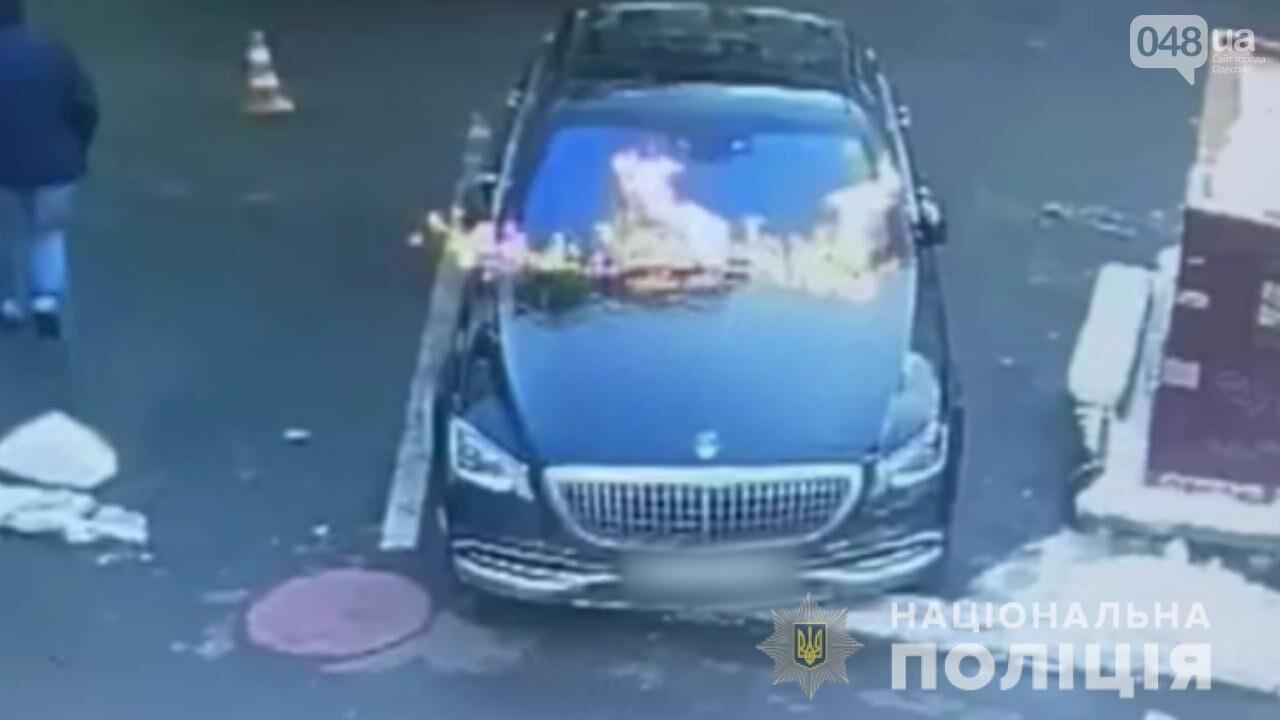 Одесские полицейские нашли поджигателей элитного автомобиля, - ФОТО, ВИДЕО, фото-1