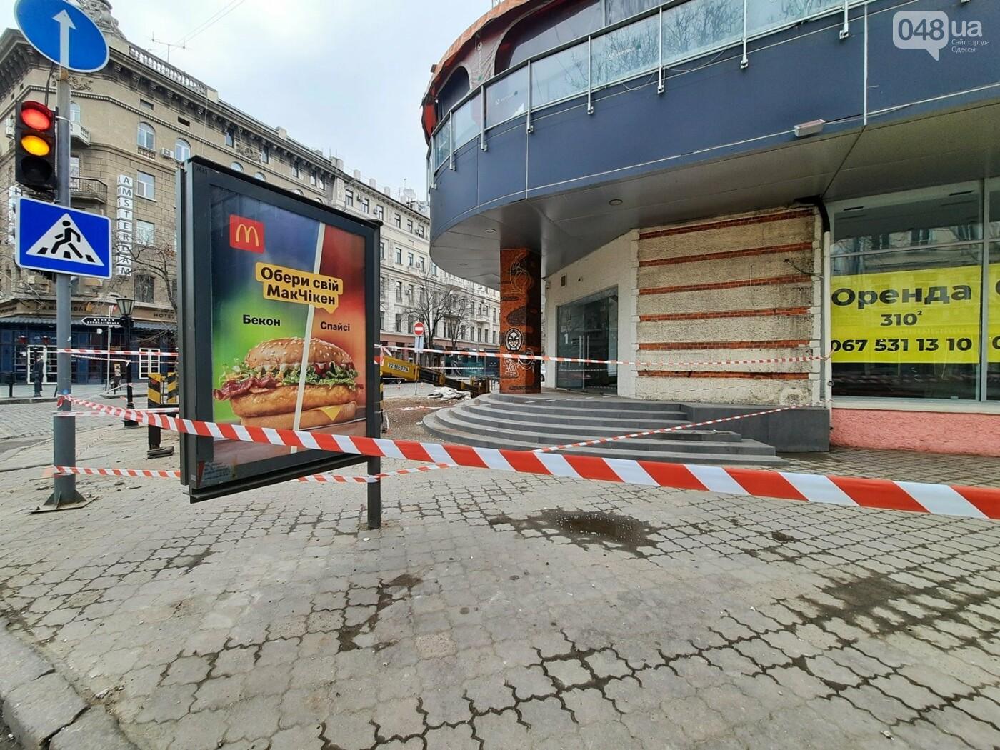 В Одессе на Дерибасовской ликвидируют последствия обвала фасада, - ФОТО, ВИДЕО , фото-10