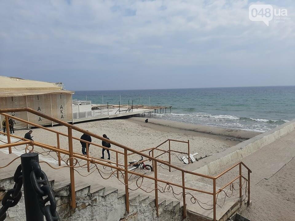 В Одессе с побережья убирают незаконные помосты, - ФОТО, СТРИМ, фото-5