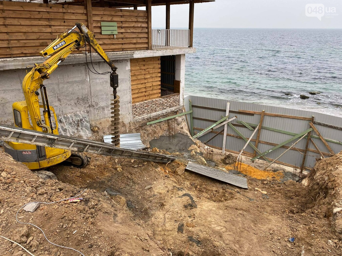 В Одессе в Аркадии на пляже строят новое кафе,- ФОТО, ВИДЕО, фото-8