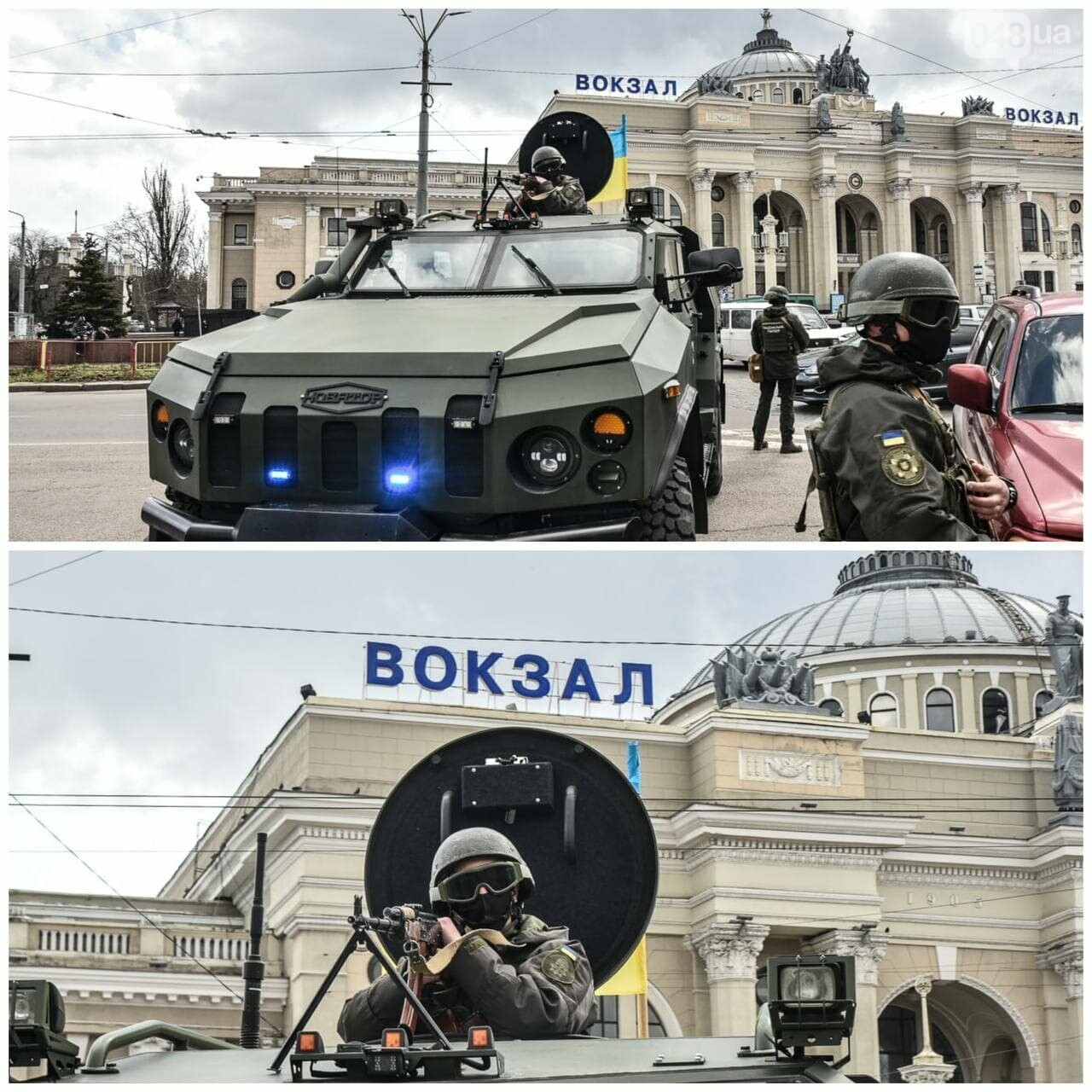 По улицам Одессы проехала военная техника,- ВИДЕО, фото-1