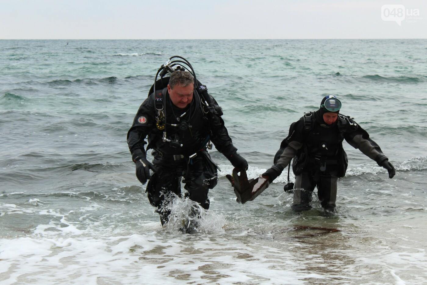Горы метала и битое стекло: водолазы чистят дно одесских пляжей, - ФОТО, ВИДЕО , фото-7