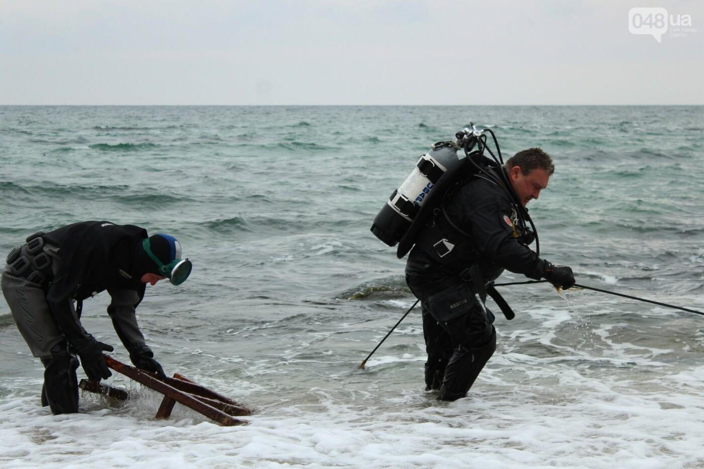 Горы метала и битое стекло: водолазы чистят дно одесских пляжей, - ФОТО, ВИДЕО , фото-8