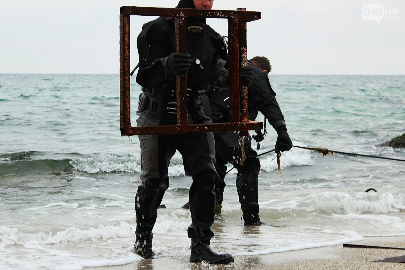 Горы метала и битое стекло: водолазы чистят дно одесских пляжей, - ФОТО, ВИДЕО , фото-11