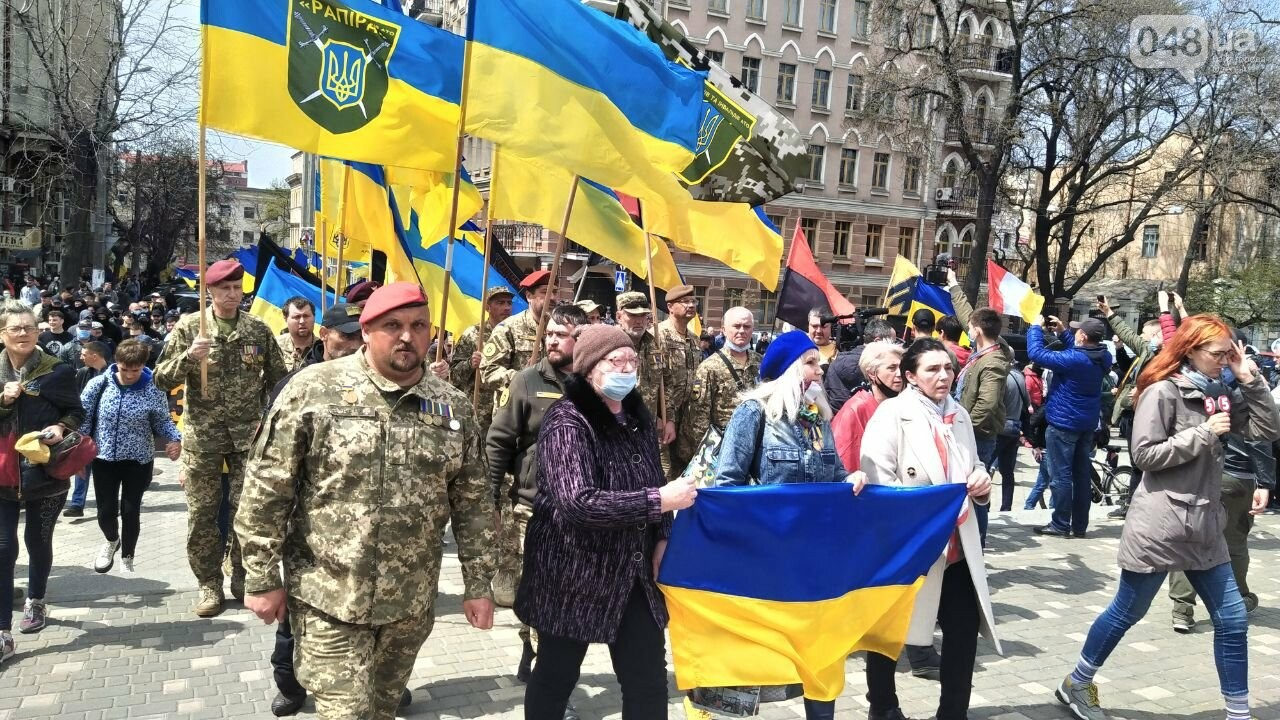 Патриоты вышли на марш в защиту Одессы, - ФОТО, ВИДЕО, фото-15