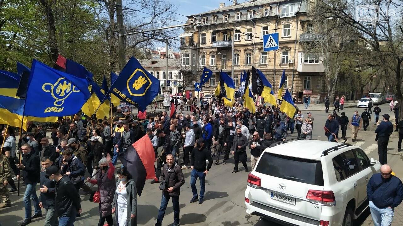 Патриоты вышли на марш в защиту Одессы, - ФОТО, ВИДЕО, фото-19