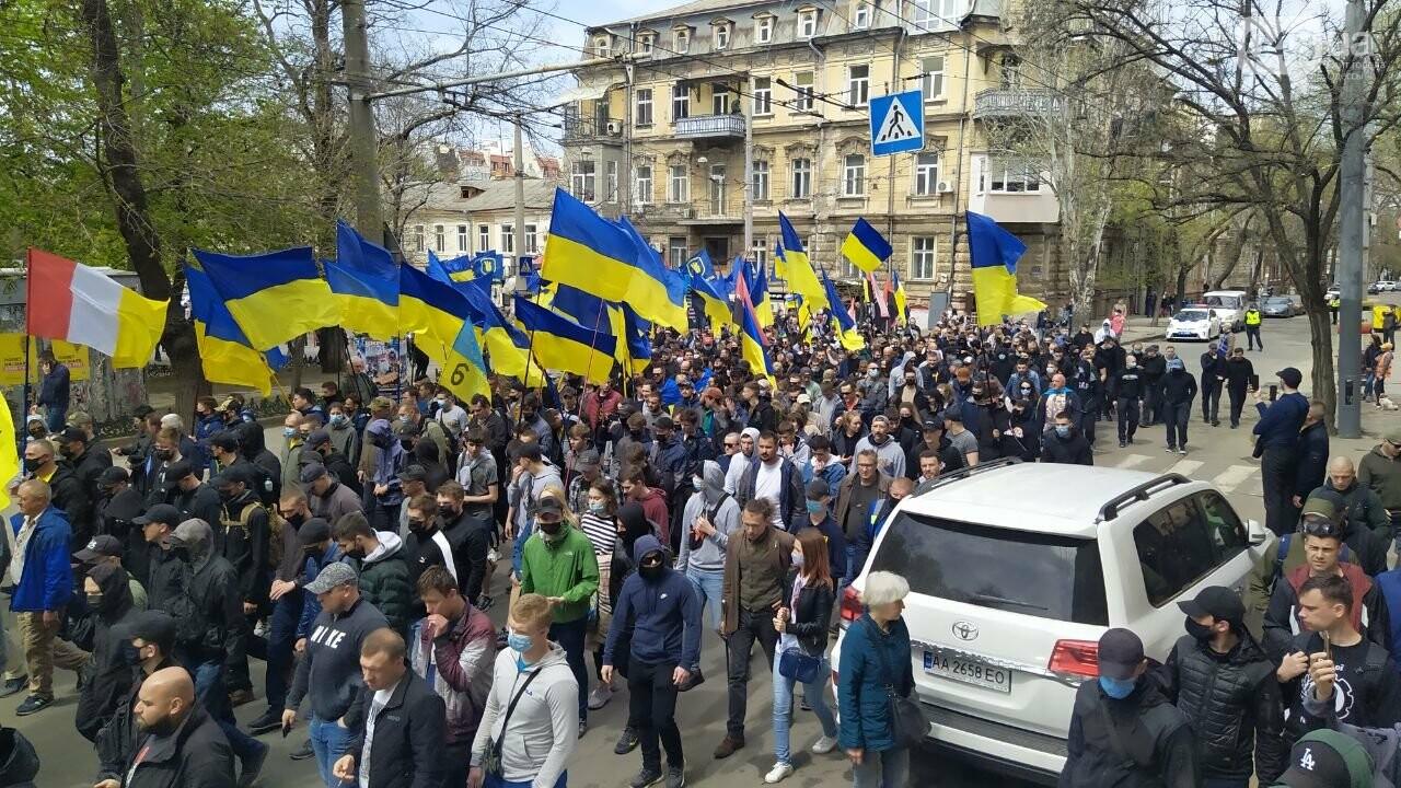 Патриоты вышли на марш в защиту Одессы, - ФОТО, ВИДЕО, фото-14