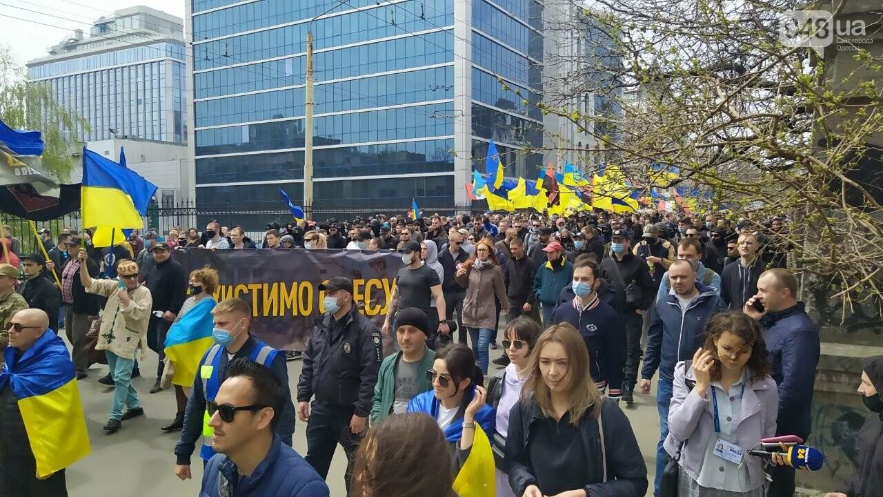 Патриоты вышли на марш в защиту Одессы, - ФОТО, ВИДЕО, фото-13