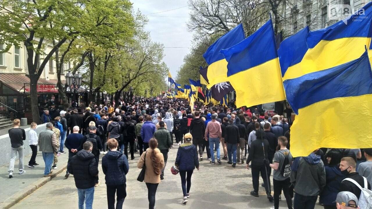 Патриоты вышли на марш в защиту Одессы, - ФОТО, ВИДЕО, фото-7