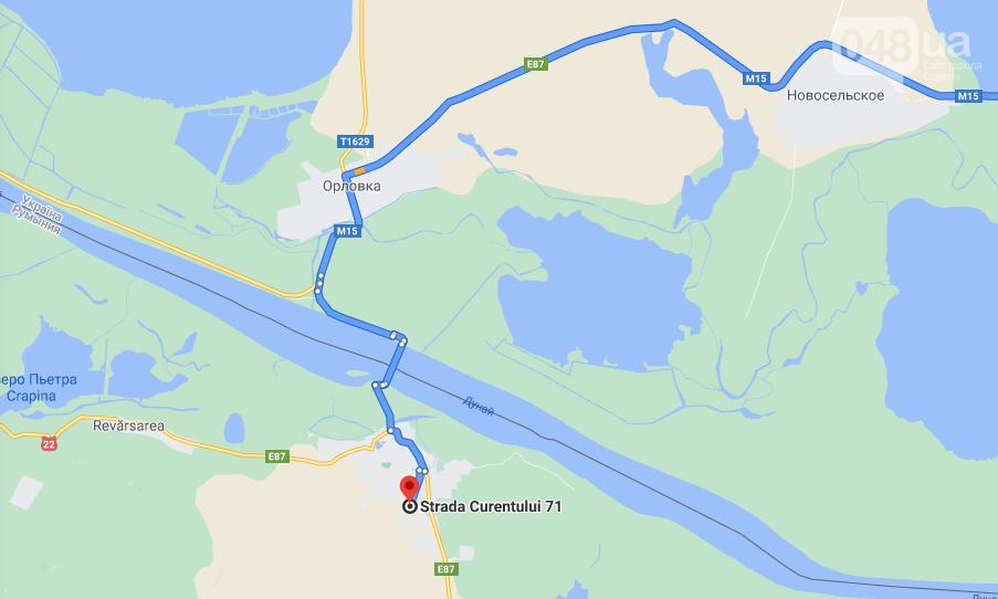 Паромная переправа, расположенная в Одесской области появилась на картах Google, фото-1