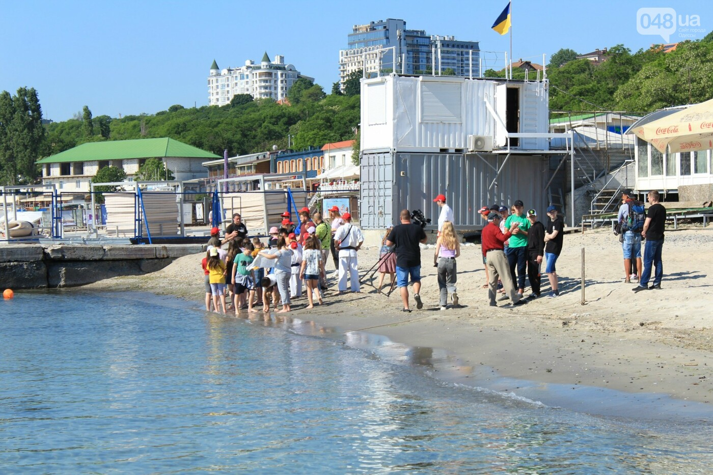 Школьники спасали утопающих: на Ланжероне в Одессе провели учения, - ФОТО, ВИДЕО , фото-1