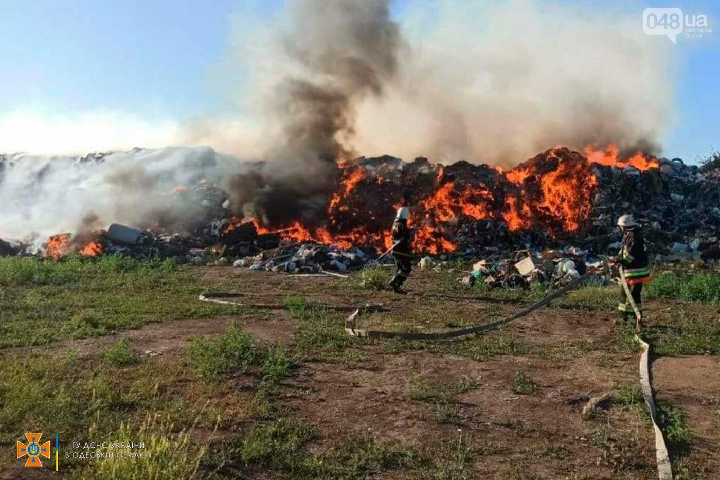 Пожарные 11 часов тушили свалку в одесской области,- ФОТО, фото-1