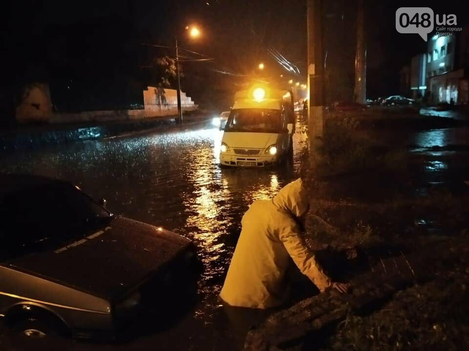 Ливень в Одессе: затоплены  улицы, повалены деревья,- ФОТО, фото-5