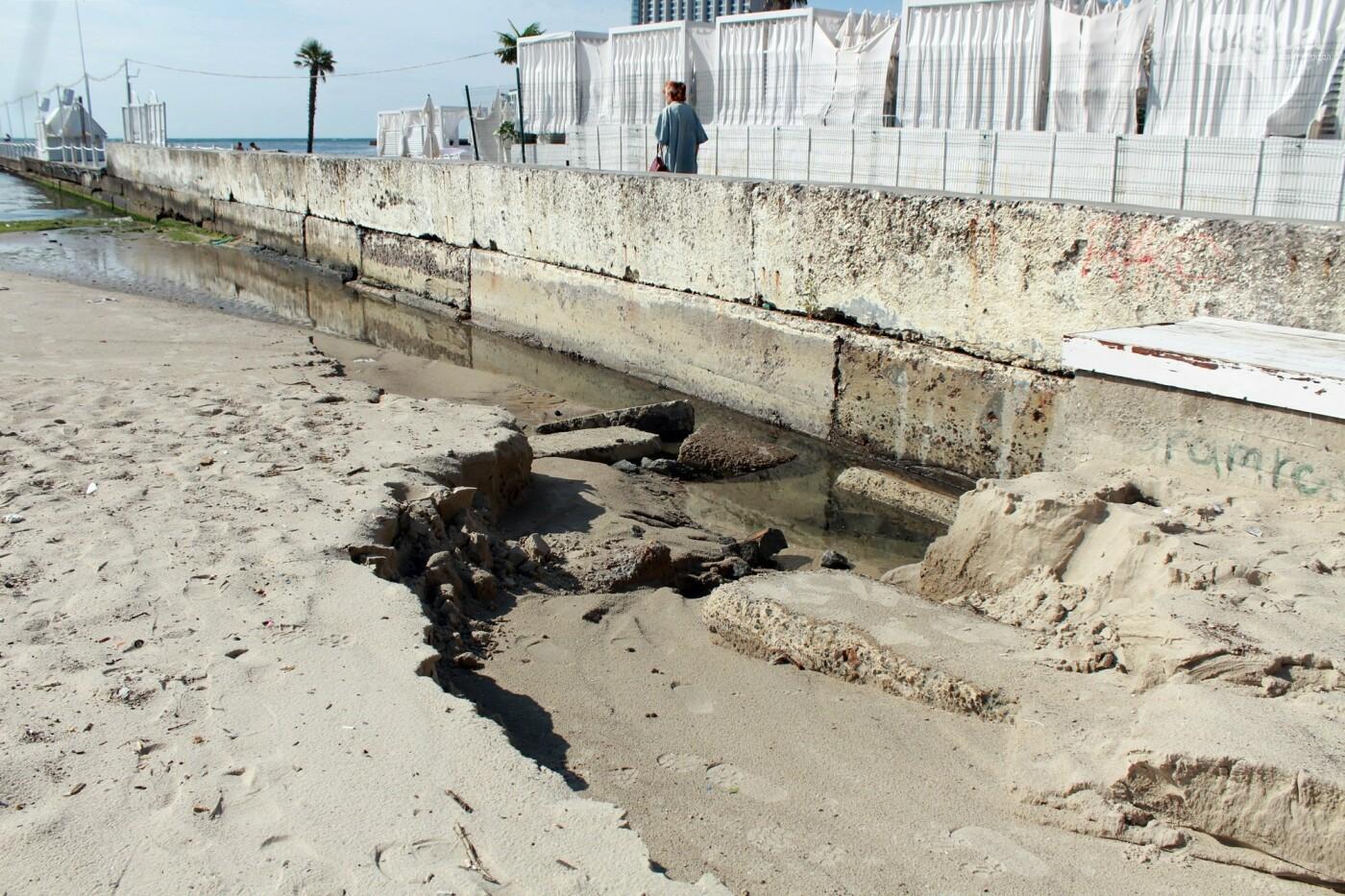Часть одесской Аркадии буквально смыло в море, - ФОТО, ВИДЕО , фото-55