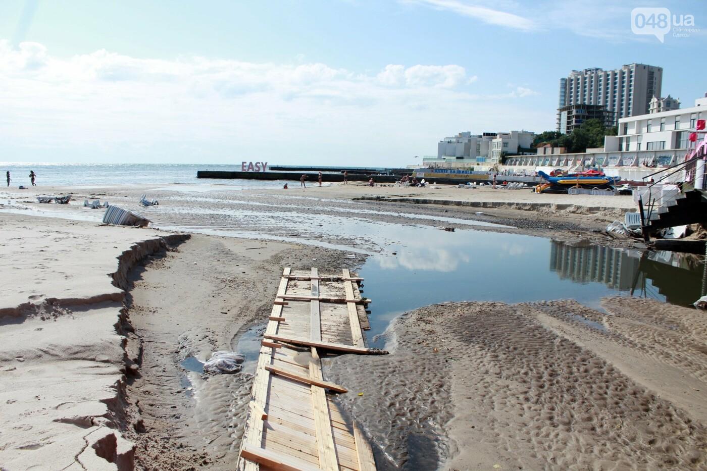 Часть одесской Аркадии буквально смыло в море, - ФОТО, ВИДЕО , фото-57