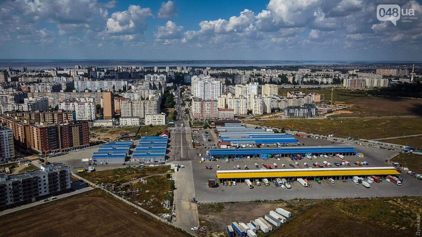 Подарок городу: на рынке «Початок» создали самый большой флаг Одессы – его видно из космоса, фото-2