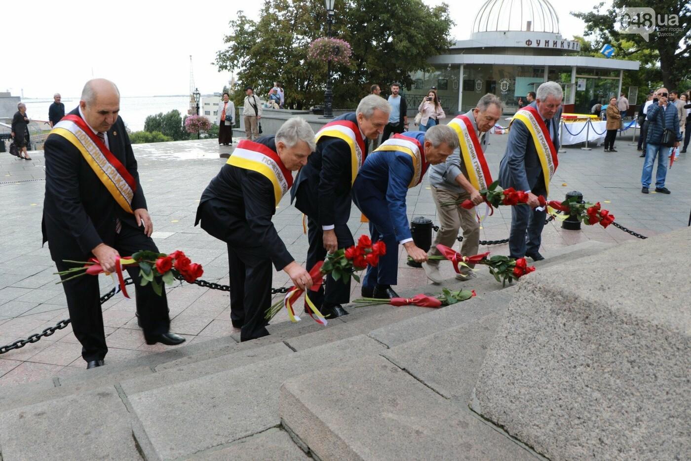 День Одессы 2021: почетные граждане возложили розы к памятнику Екатерине II,- ФОТО, фото-5