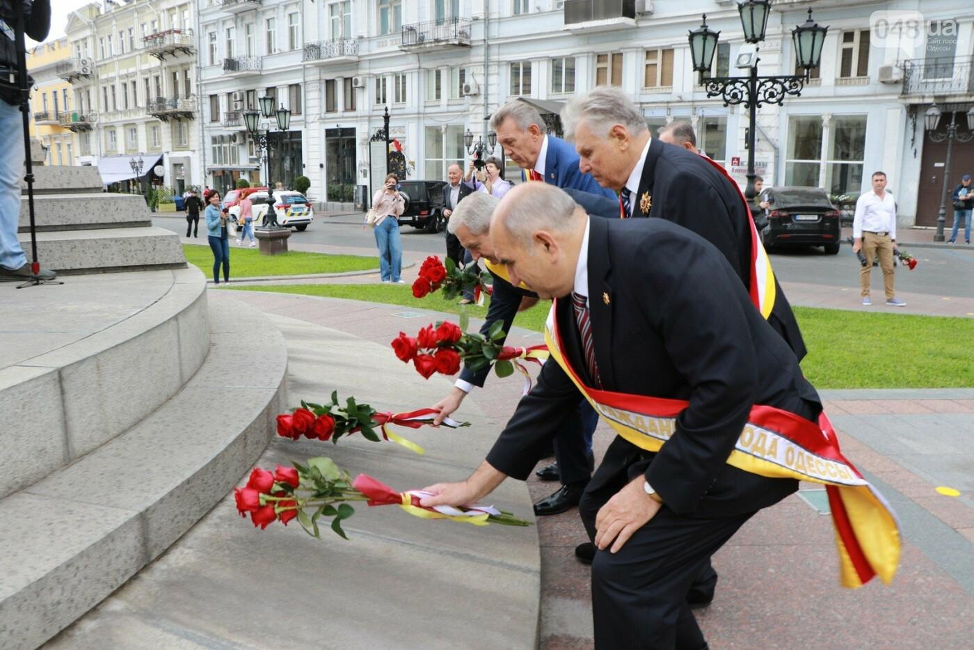 День Одессы 2021: почетные граждане возложили розы к памятнику Екатерине II,- ФОТО, фото-3