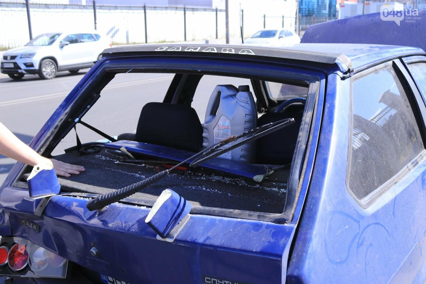 Могли взорваться: в Одессе КАМАЗ протаранил на светофоре легковушку с баллоном газа в багажнике, - ФОТО , фото-5