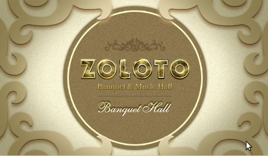 Логотип - Zoloto, банкет, мьюзик-холл Золото