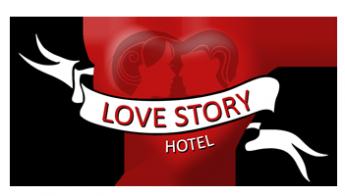 Логотип - Love story (Веселые птички), гостинично-туристический комплекс