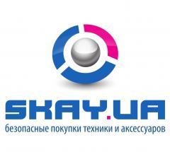 Логотип - Скай, интернет-магазин (skay.ua), сеть магазинов техники и аксессуаров