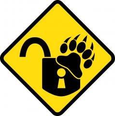 Логотип - Одесские медвежатники, служба аварийного вскрытия замков