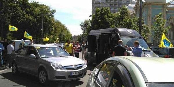 Одесситы на 'евробляхах' заблокировали Верховную раду, - ФОТО, ВИДЕО