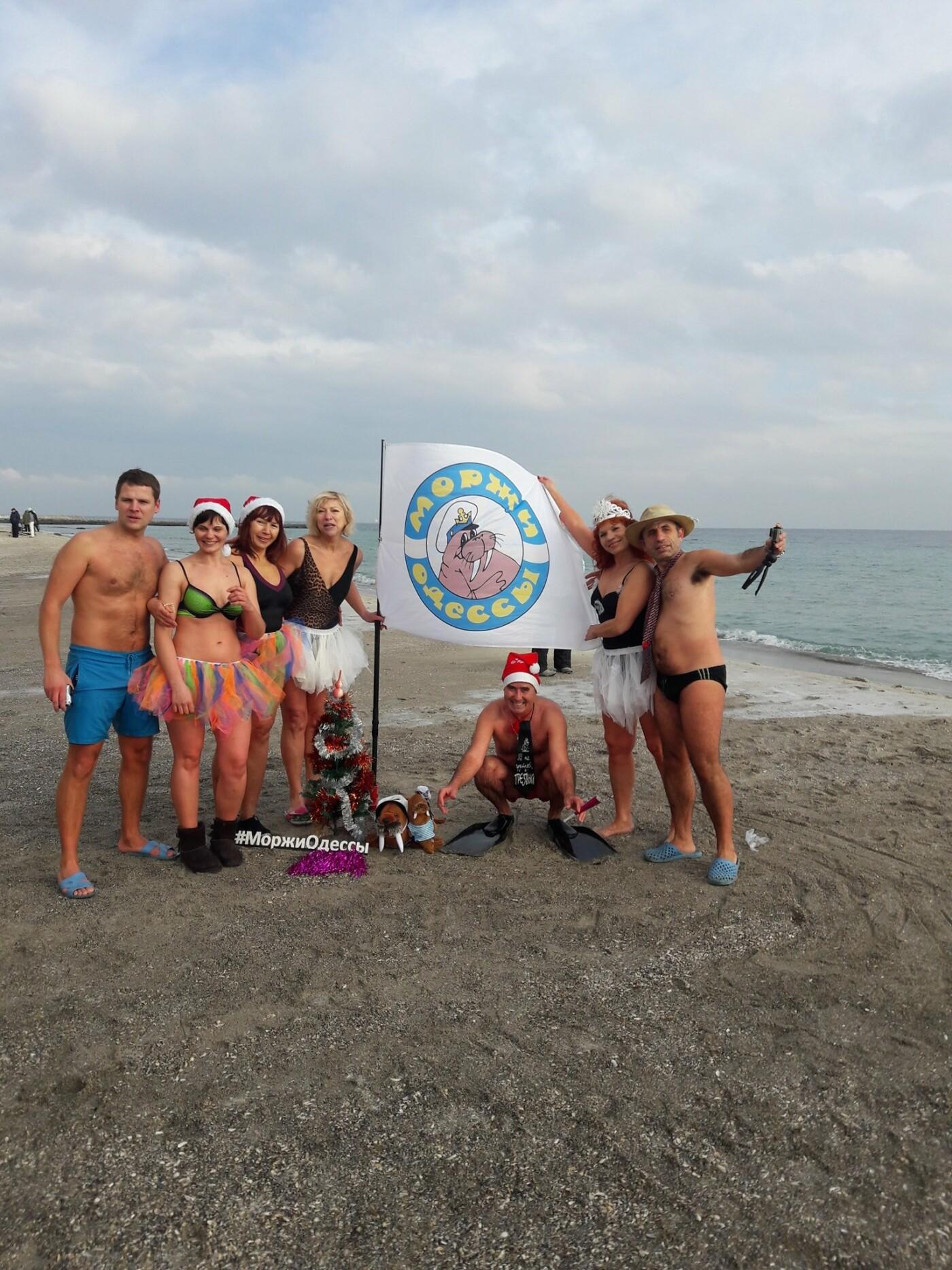 Одесситы отметили Рождество купанием в море, - ФОТО, фото-5