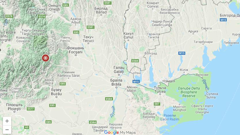 Землетрясение в Румынии дошло до Одесской области на уровне 2 баллов, фото-1, Фото: Главный центр специального контроля